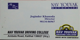 Nav Youvak Driving College